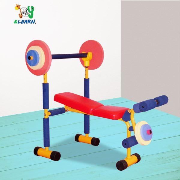 جهاز رفع اثقال العاب جيم اطفال لزيادة اللياقة البدنية لدي الطفل بشكل مرح ومسلي للطفل