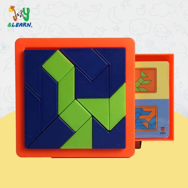 بازل لتكوين شكل معين يساعد على تنمية قوة الملاحظة والمهارات العقلية لدى الطفل